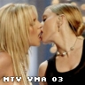 madonna and britney exchanging saliva