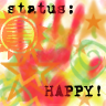 happy status display picture